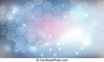 Beautiful abstract science background with glow