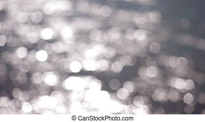Beautiful abstract silver glittering lights bokeh Christmas background. 3840x2160