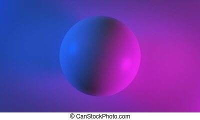 Beautiful Abstract Sphere on Surface in Blue and Purple...