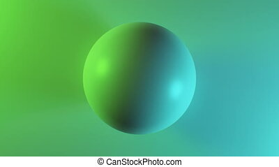 Beautiful Abstract Sphere on Surface in Multicolored Lights...