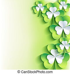 St. Patrick's day card with green a