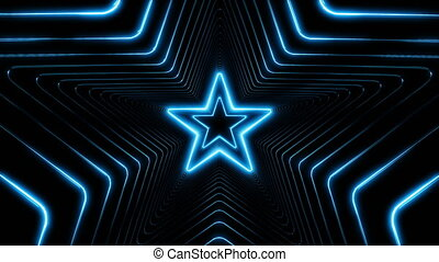 Beautiful Abstract Stars Tunnel with Light Lines Moving Fast. Set of Several Video Elements. Flying Through the Neon Background Futuristic Tunnel. Looped 3d Animation.