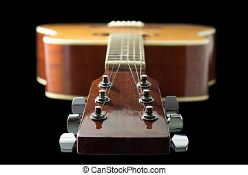 Beautiful acoustic guitar isolated