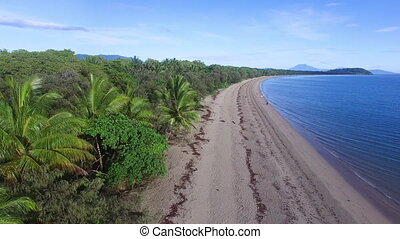 Beautiful aerial shot on the beach