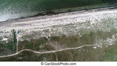 Beautiful aerial view footage of savanna. Shot in 4k resolution