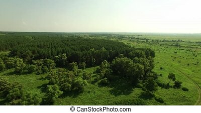 aerial view of a Russian landscape - Beautiful aerial view...