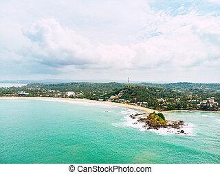 Beautiful aerial view of Palm Beach coastline, Florida.