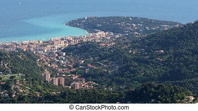 Aerial View Of The City Of Roquebrune-Cap-Martin And Cap Martin