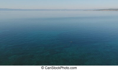 Beautiful aerial view on azure water