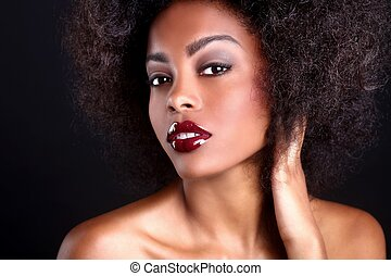 Beautiful African American Black Woman - Stunning Portrait...