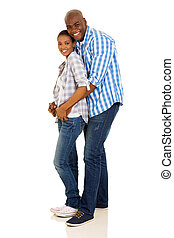 beautiful african american couple