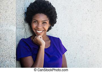 Beautiful african american girl