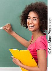 Beautiful African American student - Beautiful young African...