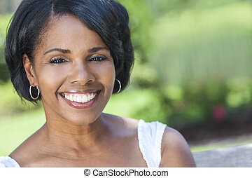 Beautiful African American Woman Outdoor Portrait - A...