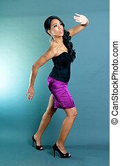 Beautiful African American Woman posing
