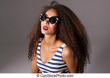 Beautiful african american woman posing. - Beautiful...