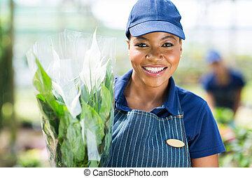 african female florist