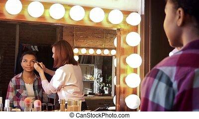 Beautiful african model In a Beauty Salon.