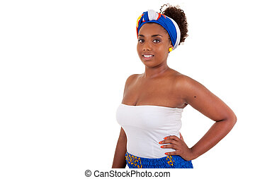 Beautiful african teenage girl wearing traditional clothes