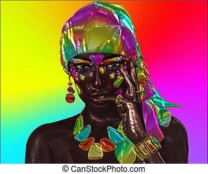 Beautiful African woman headscarf