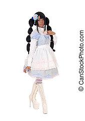 Beautiful African woman in short dress.
