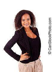 Beautiful african woman posing