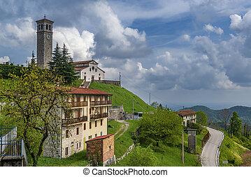 Beautiful alpine town Clauzetto in Pordenone, Italy