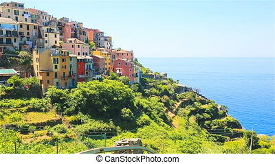 Beautiful amazing village in the Cinque Terre reserve. Liguria region of Italy.