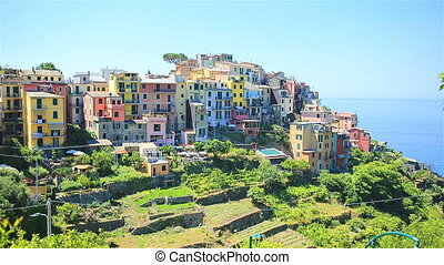Beautiful amazing village in the Cinque Terre reserve. Liguria region of Italy. One of five land the village of Corniglia