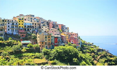 Beautiful amazing village of Corniglia in the Cinque Terre reserve. Liguria region of Italy.