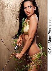 Beautiful amazon archer