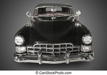 ancient black car - beautiful ancient black car against dark...