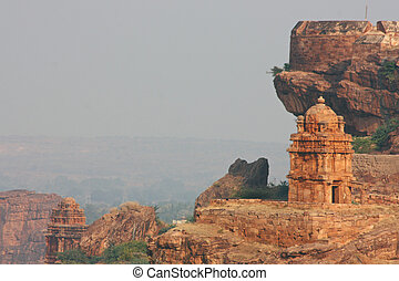 Beautiful ancient temple in Badami, Karnataka, India
