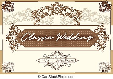Elegant vector menu design or invitation in royal style with beautiful and elegant vector invitation in royal style with flourishes save the date card stopboris Choice Image