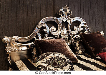 fashionable bed - beautiful and fashionable bed in a modern ...