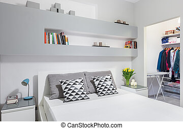 Beautiful and functional bedroom idea