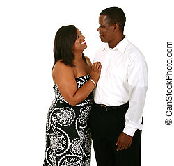 Beautiful And Handsome African American Couple