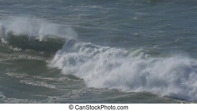 Beautiful And Huge Waves, Atlantic Ocean - Native Material