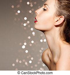 Beautiful and sensual woman