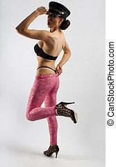 girl wearing lingerie