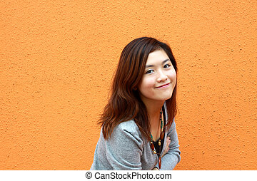 Beautiful and young Asian woman