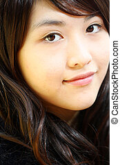 Beautiful and young Asian woman portrait