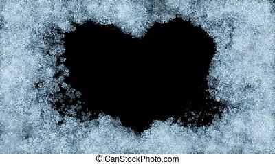 Beautiful Animation of Freezing Window forming Heart Shape....