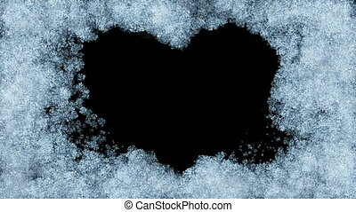 Beautiful Animation of Freezing Window forming Heart Shape....