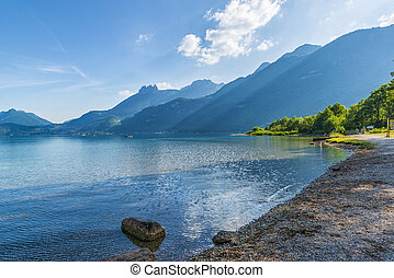 Beautiful Annecy lake in France.