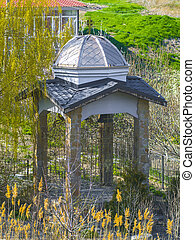 Beautiful antique gazebo in the park