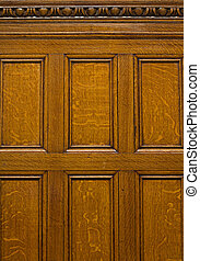 Beautiful antique solid oak panelling with egg and dart...