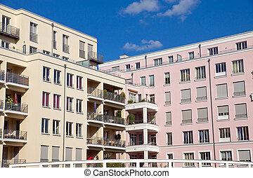 Beautiful apartment houses