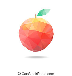 apple of triangles - beautiful apple of triangles on a white...
