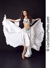 Beautiful Arabian bellydancer sexy woman in bellydance...
